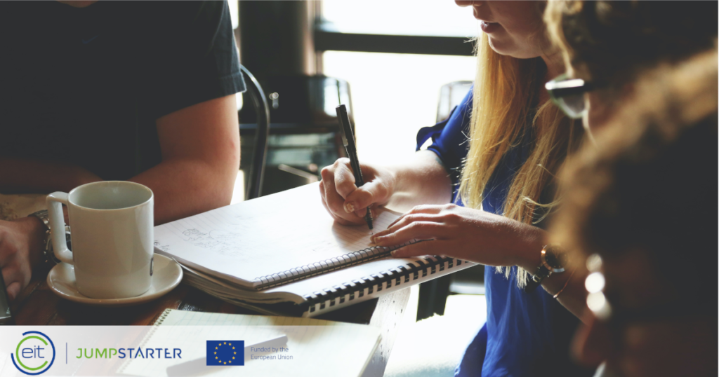 During EIT Jumpstarter bootcamps teams will develop their pitch deck and identify areas for further development and validation